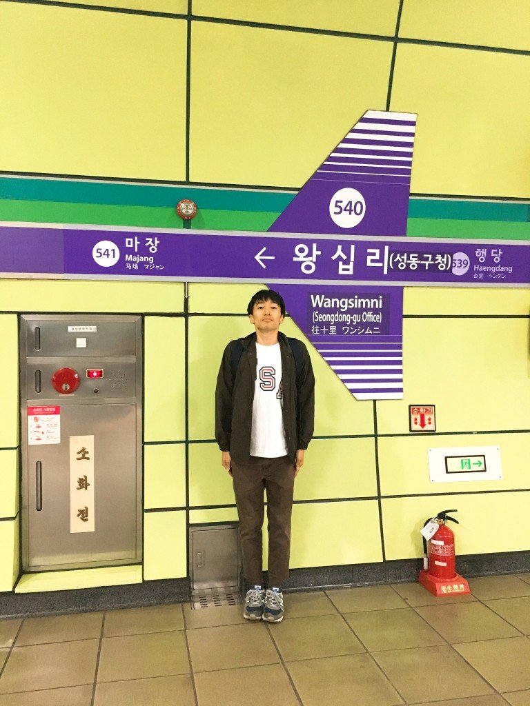 韓国にて。オーストラリアで出会った友人にいつもガイドをしてもらっています。
