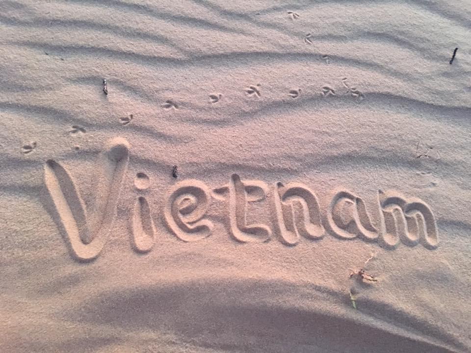 ベトナムの砂地にて