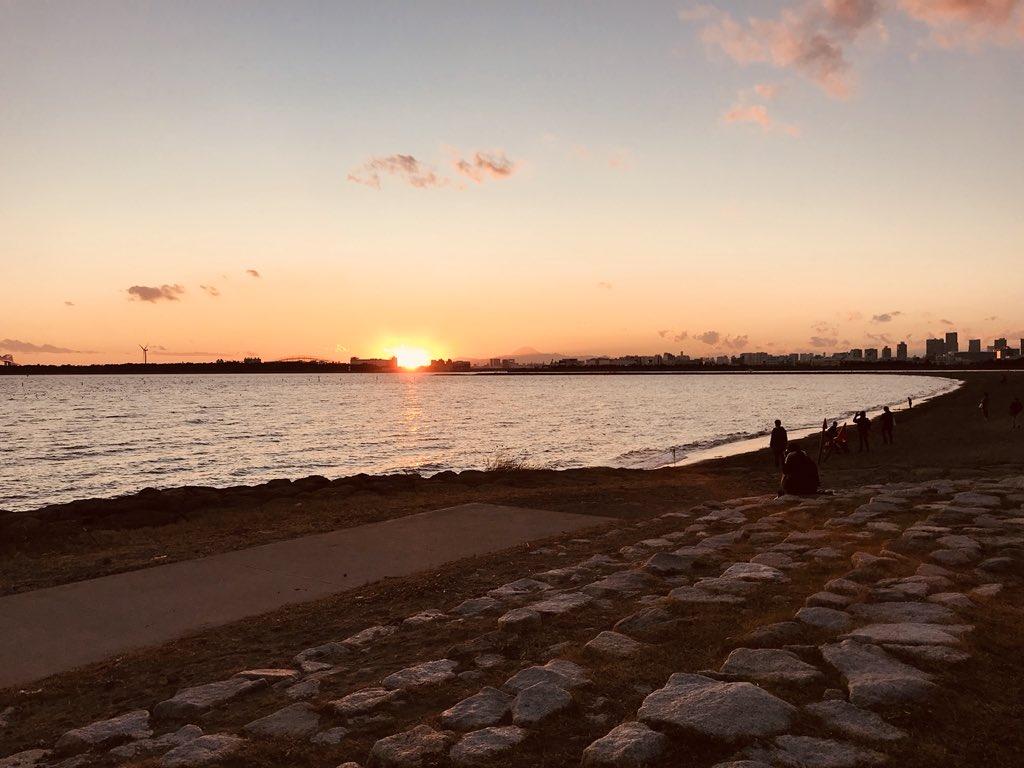 葛西臨海公園からの夕日