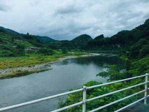 View from the bus (drive to Takachiho from Miyazaki City)