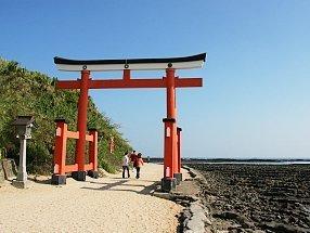 Aoshima Gate on a sunny day