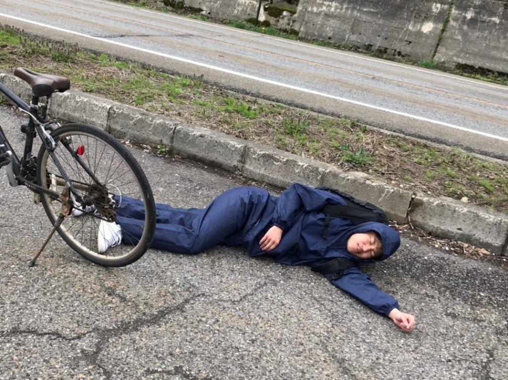 オークハウス入る前に景気づけに新潟から栃木に自転車で行こうとして途中で朽ちた瞬間1