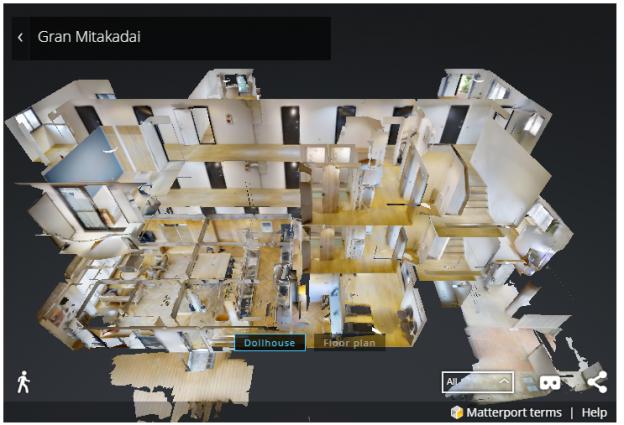 3Dスキャンカメラで撮影した物件内部