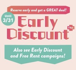 Early Discount Campaign!