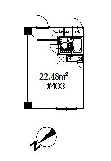 guesthouse sharehouse 하이라이프 니시신주쿠 floorplan1