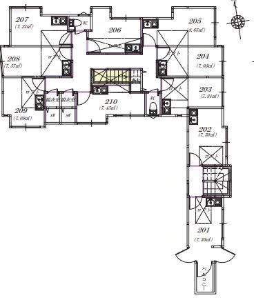 guesthouse sharehouse OAKHOUSE松陰神社前 floorplan2