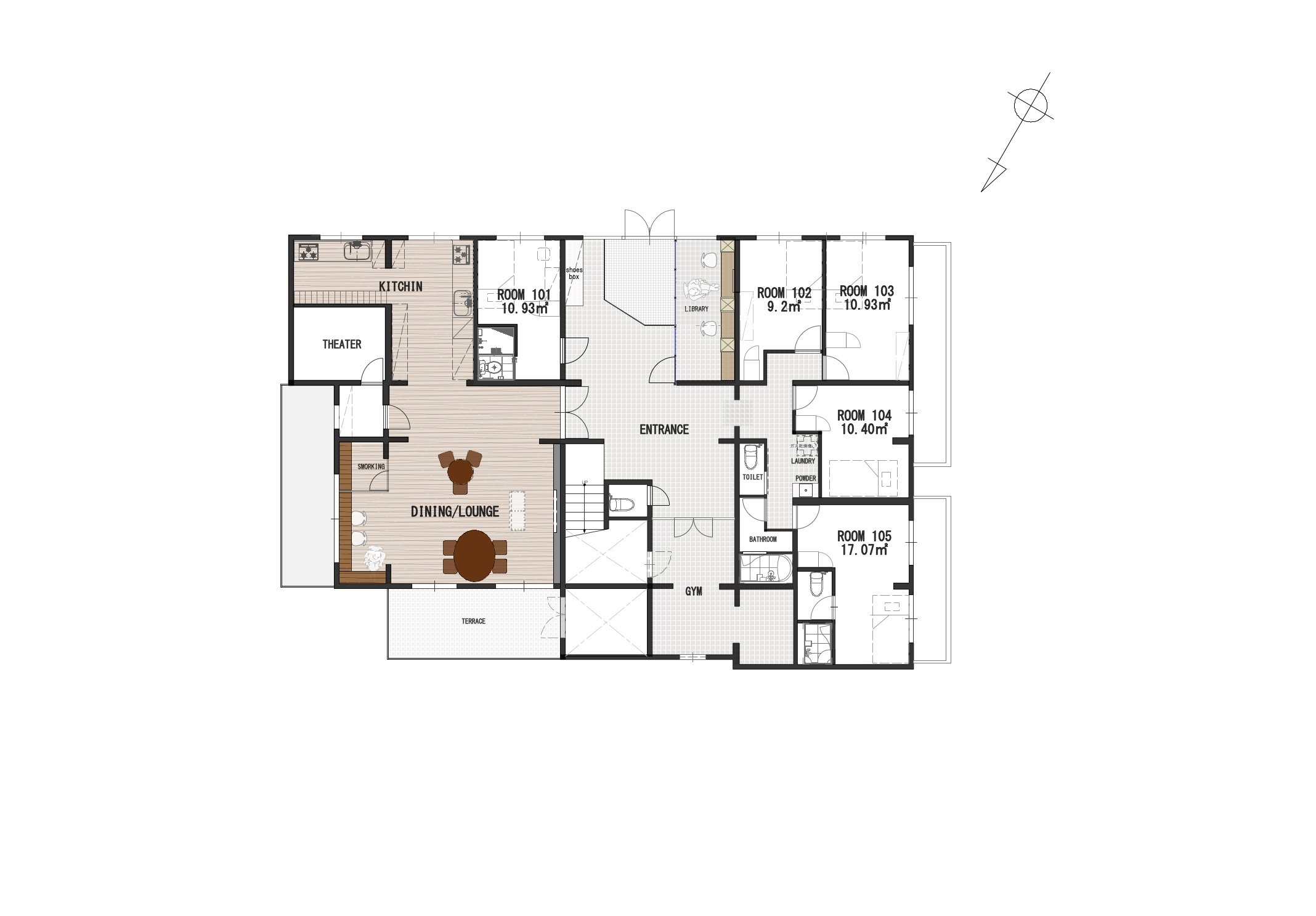 guesthouse sharehouse GRAN讀賣樂園前 floorplan1