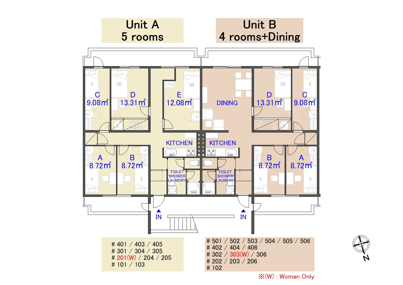 guesthouse sharehouse ガーデンタウン板橋中台 floorplan2