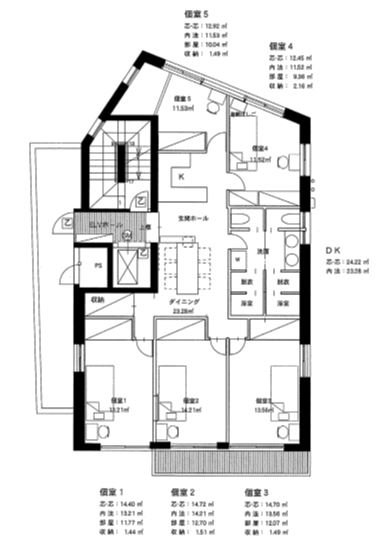 guesthouse sharehouse Walnut Hill西荻窪 floorplan1