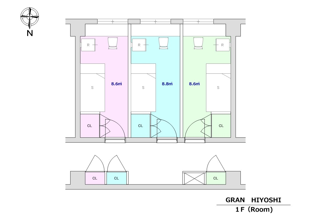 guesthouse sharehouse 그랑 히요시 floorplan2