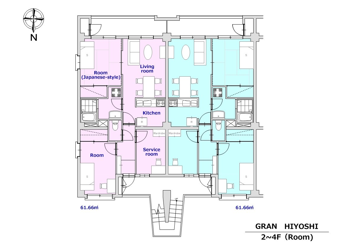 guesthouse sharehouse 그랑 히요시 floorplan4
