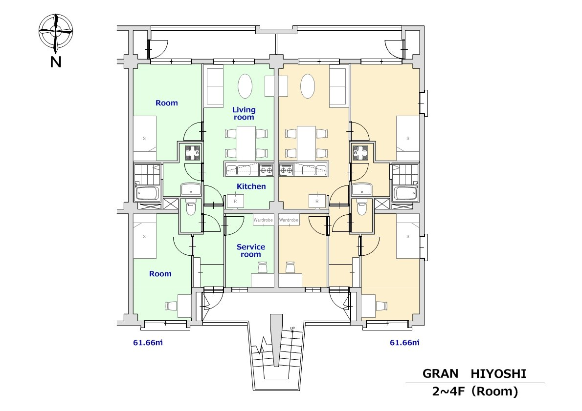 guesthouse sharehouse 그랑 히요시 floorplan5