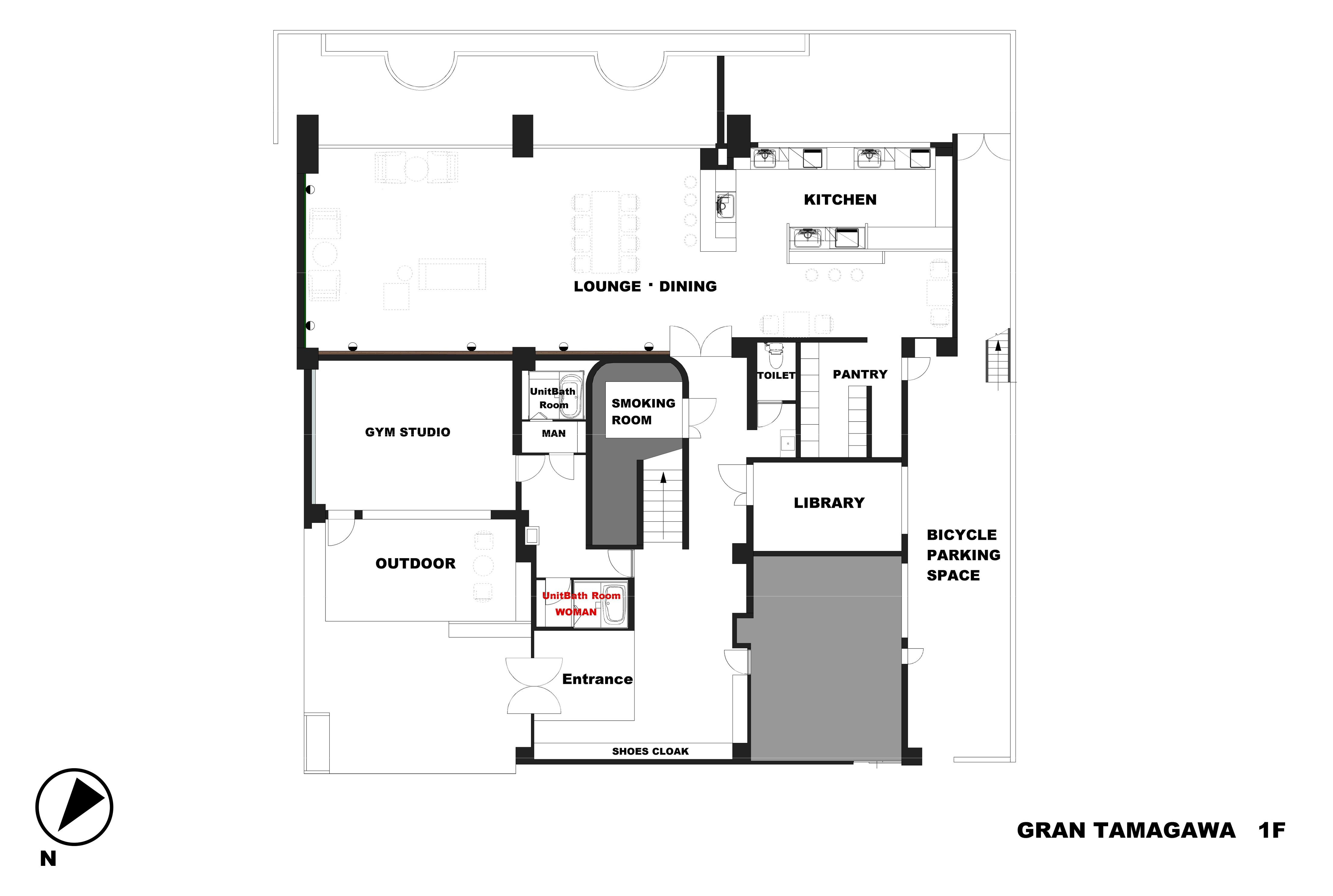 guesthouse sharehouse GRAN TAMAGAWA floorplan1