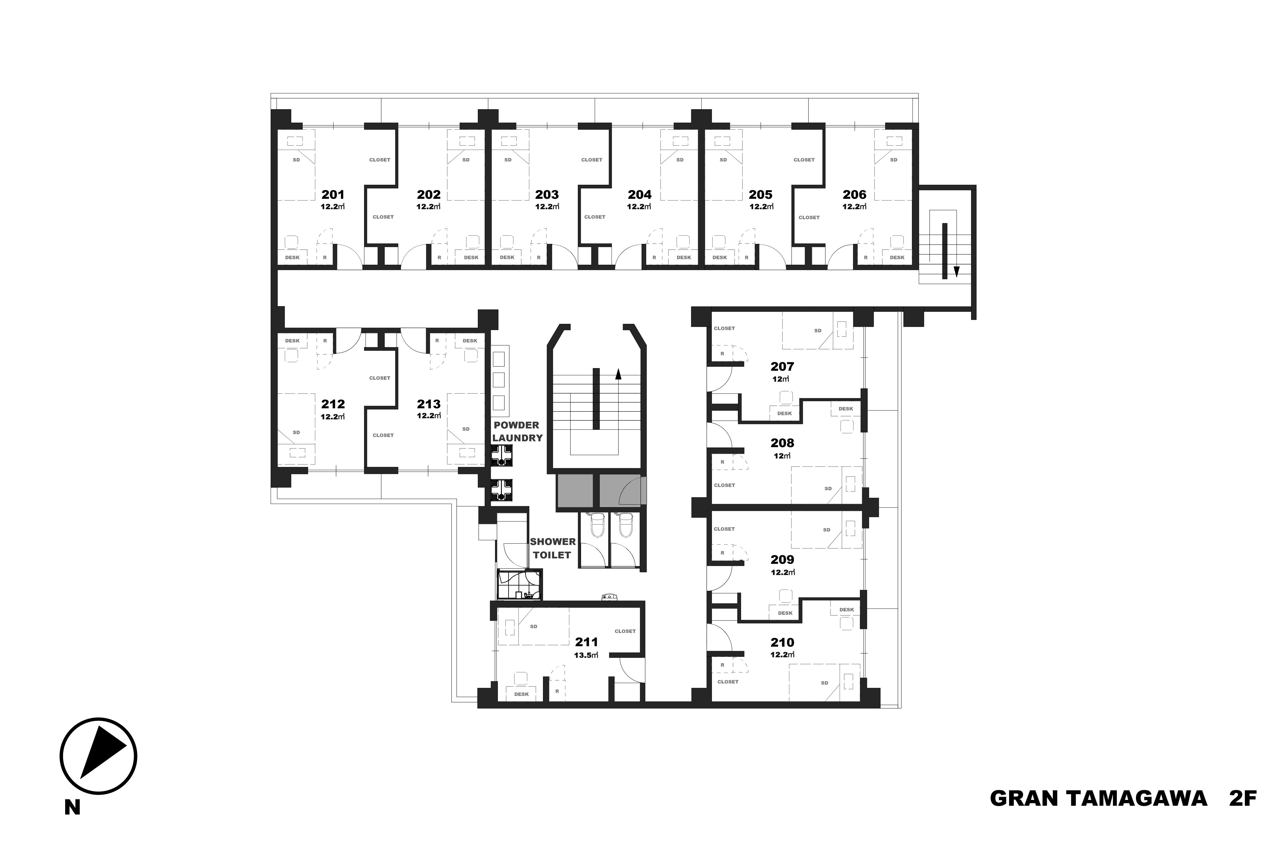 guesthouse sharehouse GRAN TAMAGAWA floorplan2