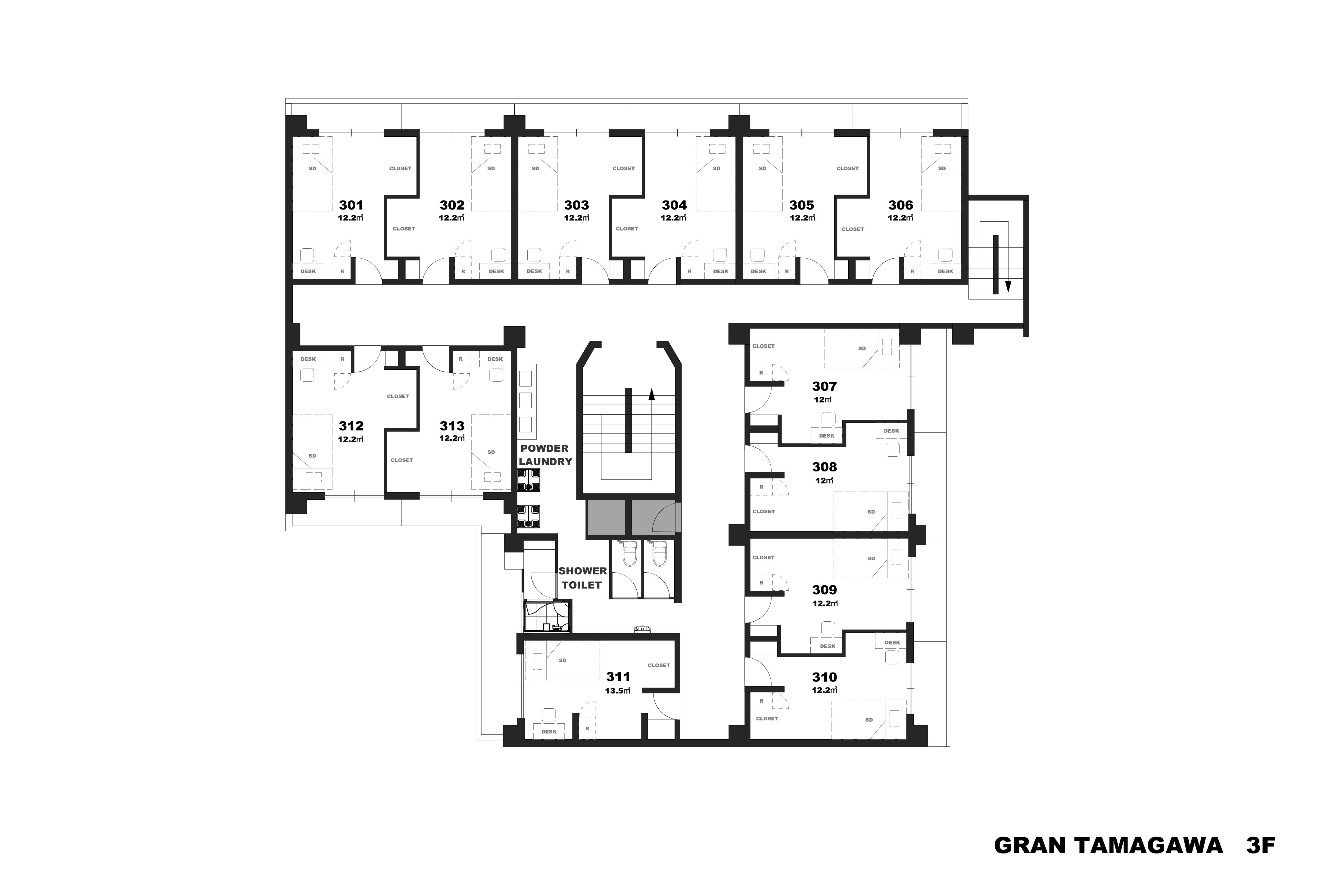guesthouse sharehouse GRAN TAMAGAWA floorplan3