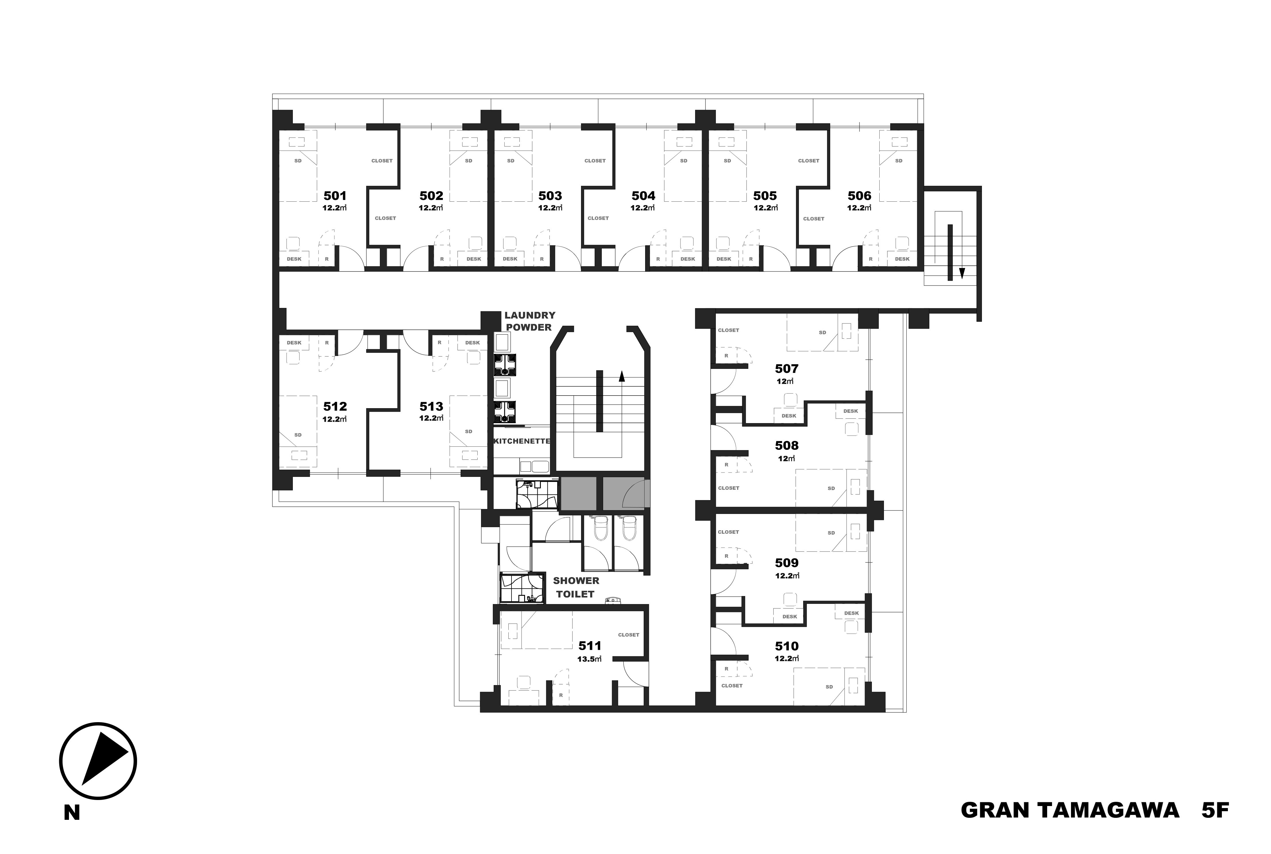 guesthouse sharehouse GRAN TAMAGAWA floorplan5