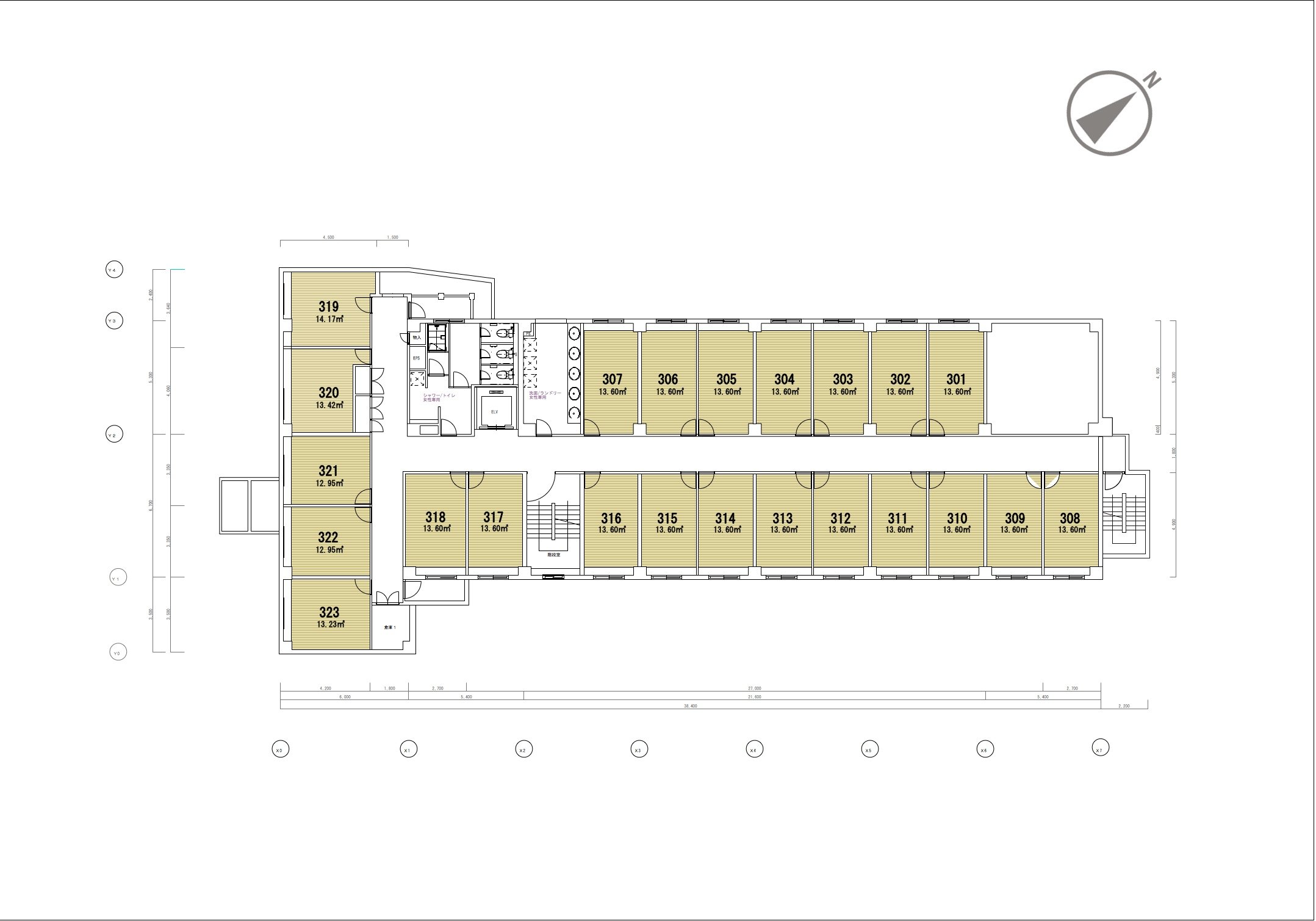 guesthouse sharehouse グラン登戸 floorplan3