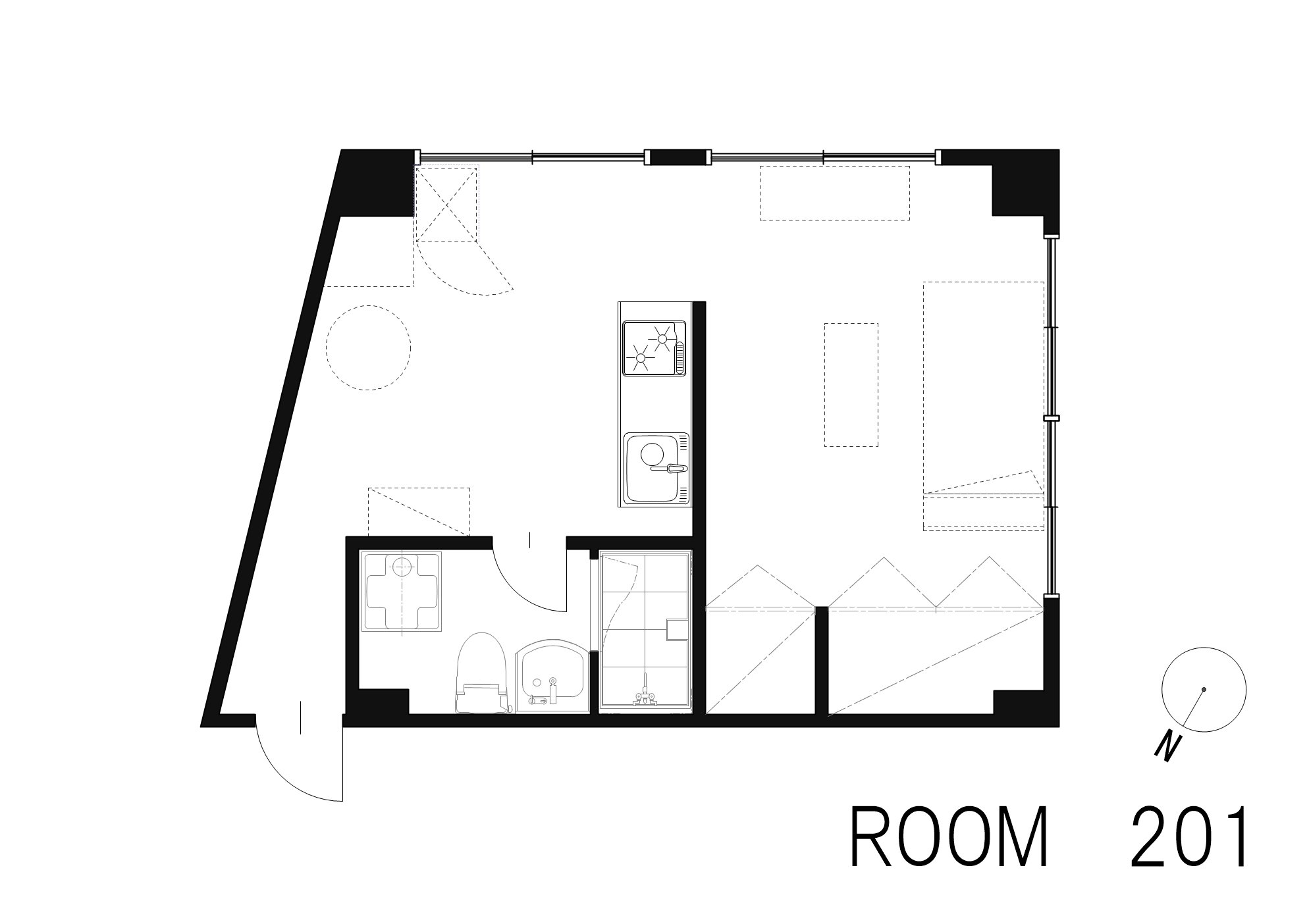 guesthouse sharehouse OAK APARTMENT AZABU JUBAN floorplan1