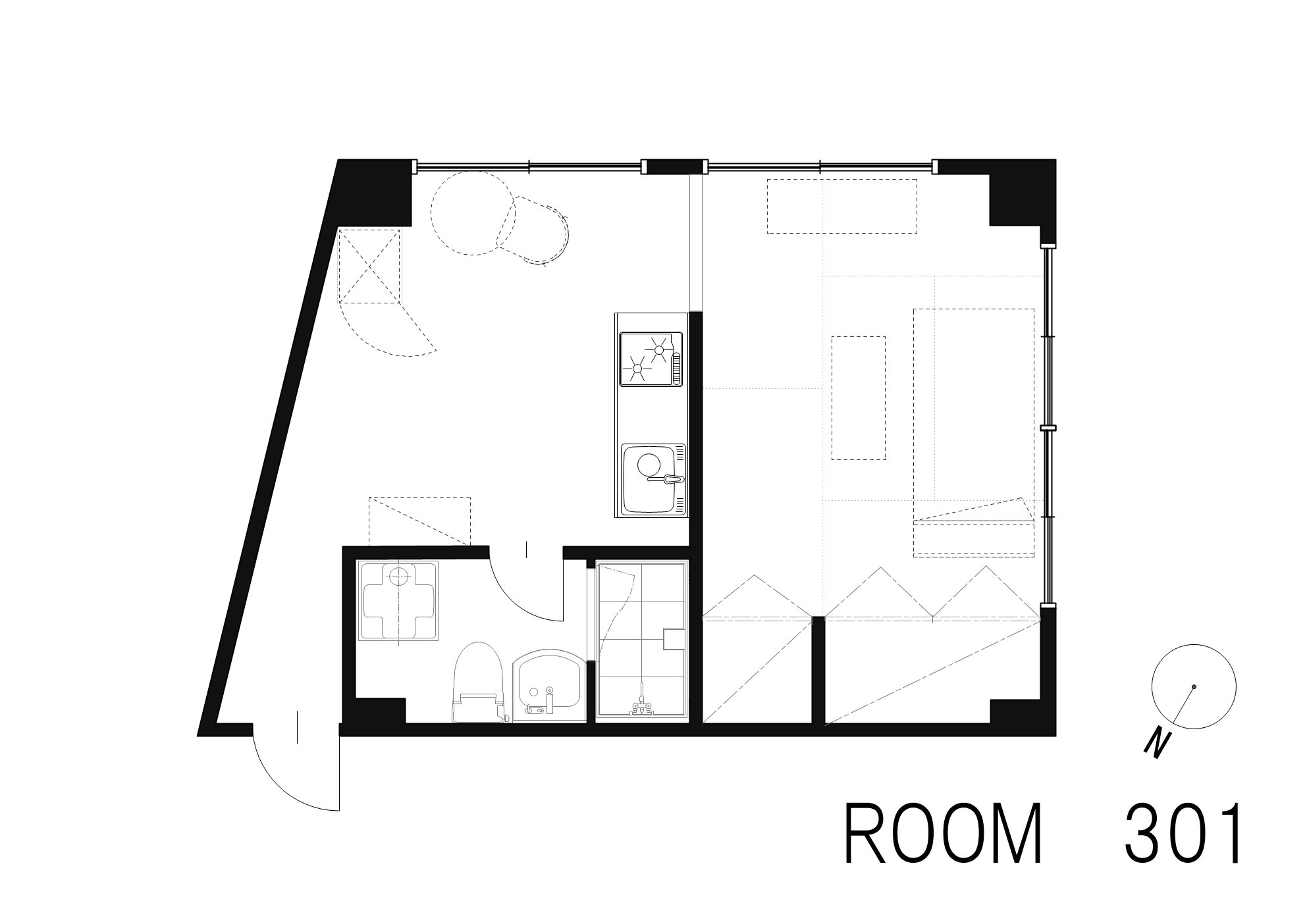 guesthouse sharehouse OAK APARTMENT AZABU JUBAN floorplan3
