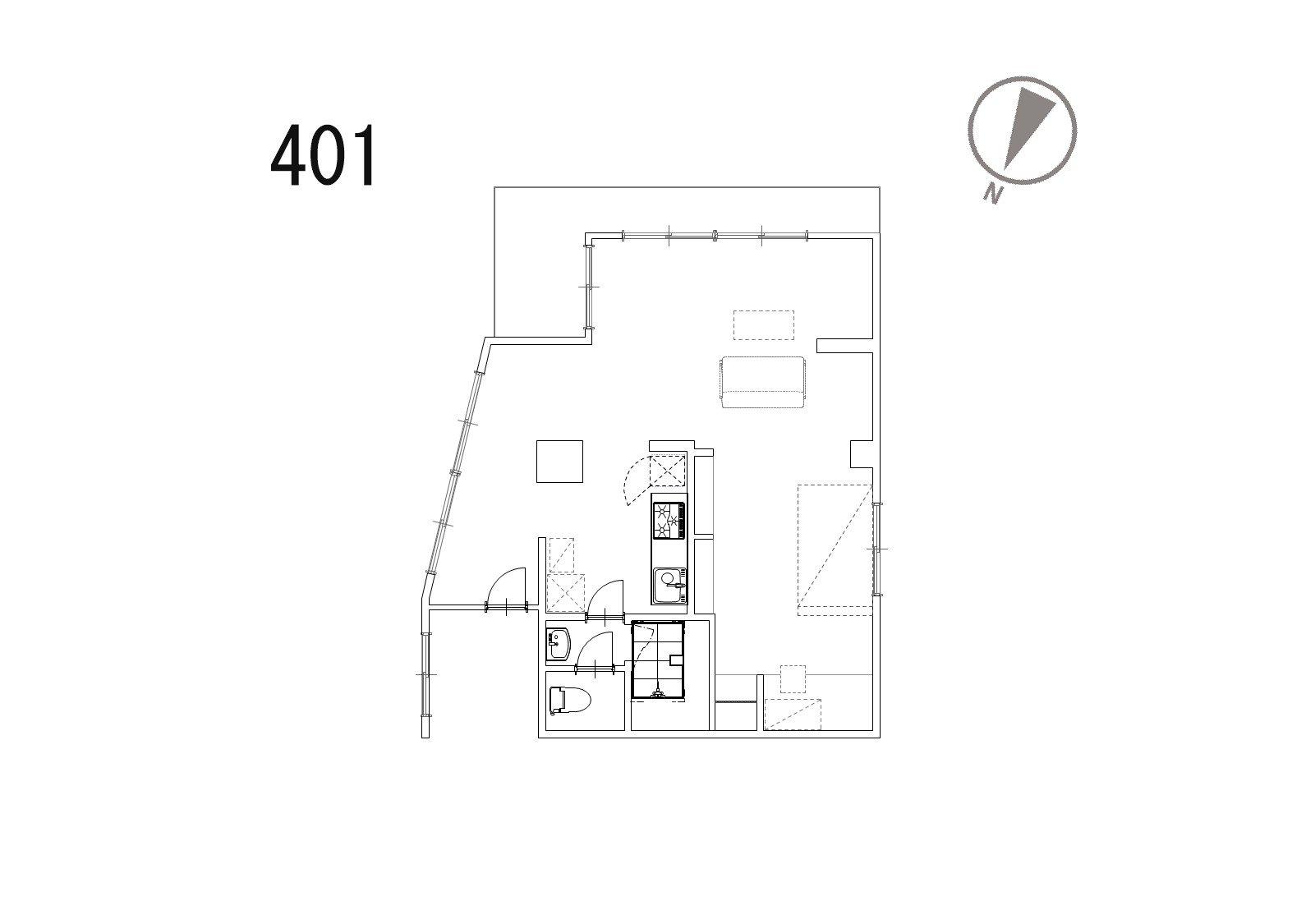 guesthouse sharehouse OAK APARTMENT AZABU JUBAN floorplan5