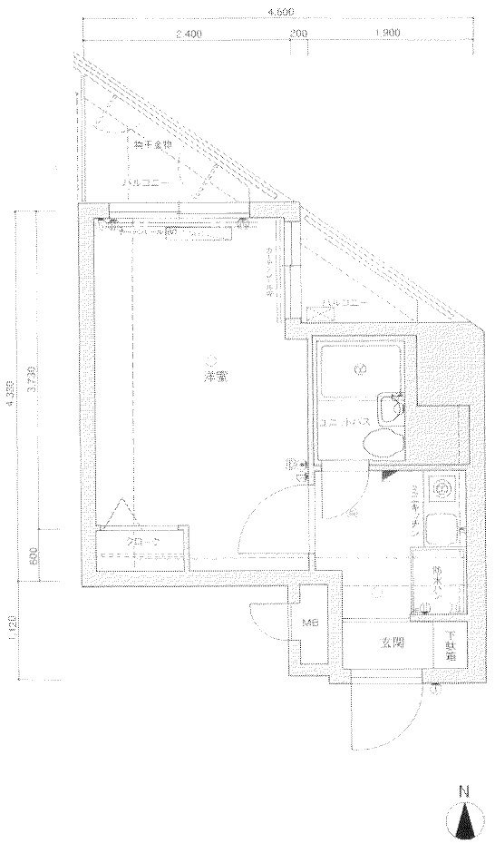 guesthouse sharehouse Eslead교토역앞 floorplan1