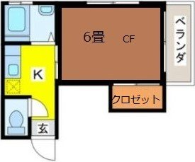 guesthouse sharehouse ビラ八重(池袋) floorplan1