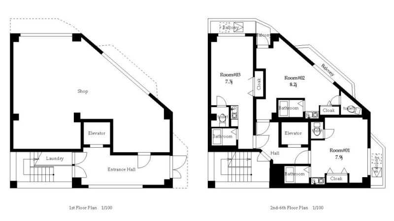 guesthouse sharehouse オークマンション浅草 floorplan1