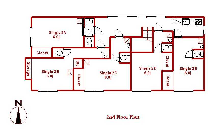 guesthouse sharehouse メイプルハウスB floorplan2