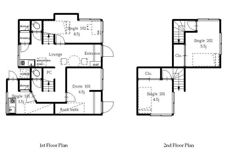 guesthouse sharehouse オークハウス上野駅前 floorplan1