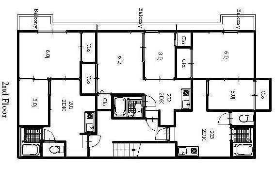 guesthouse sharehouse オークハウス小岩 floorplan2
