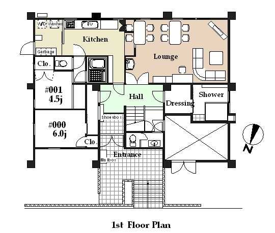 guesthouse sharehouse シェアスタイル青葉台 floorplan1