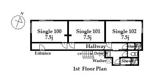 guesthouse sharehouse オークハウス荻窪annex floorplan1