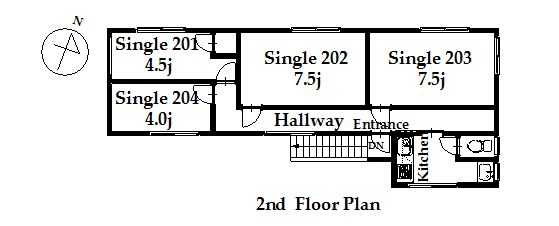 guesthouse sharehouse オークハウス荻窪annex floorplan2