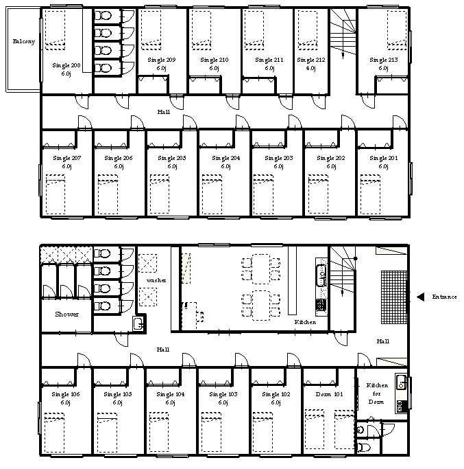 guesthouse sharehouse OAKHOUSE KICHIJOJI 2 floorplan1