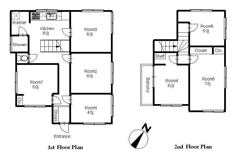 guesthouse sharehouse OAKHOUSE北大塚 floorplan1
