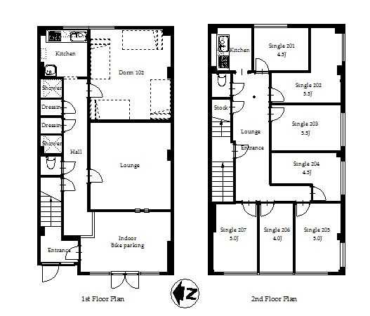 guesthouse sharehouse オークハウス両国 floorplan1