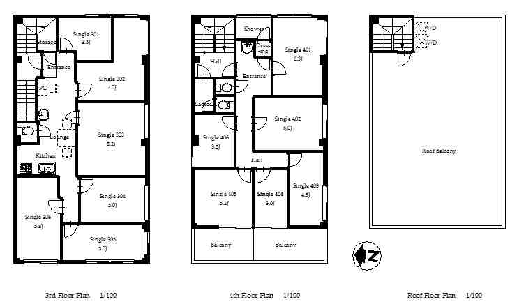 guesthouse sharehouse オークハウス両国 floorplan2