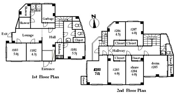 guesthouse sharehouse OAKHOUSE YOKOHAMA floorplan1