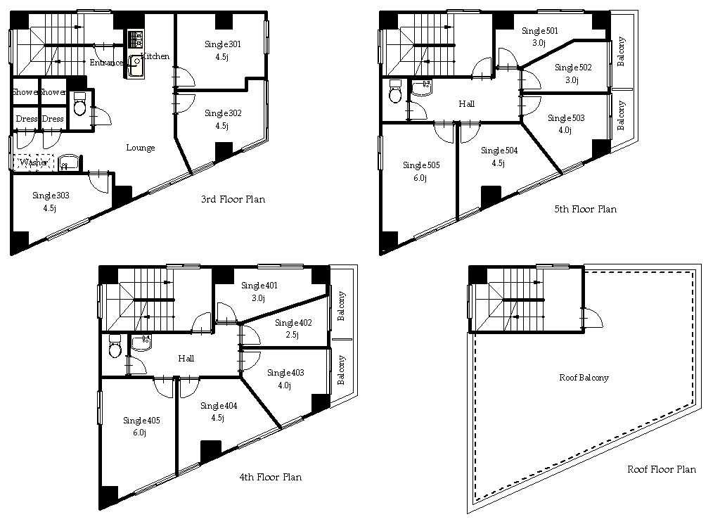 guesthouse sharehouse オークハウス三ノ輪 floorplan1