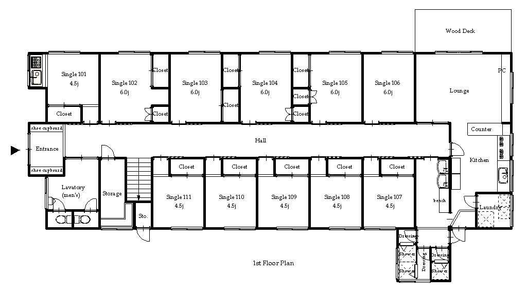 guesthouse sharehouse OAKHOUSE MOTOSUMIYOSHI NEO floorplan1