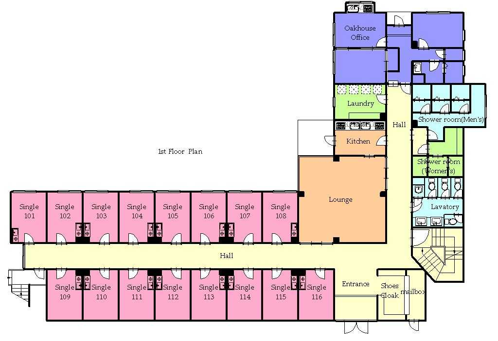 guesthouse sharehouse プレミア吉祥寺 floorplan1