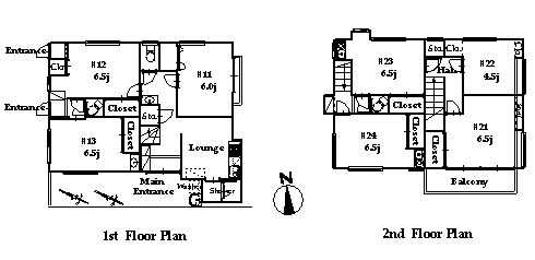 guesthouse sharehouse オークハウス笹塚 floorplan1