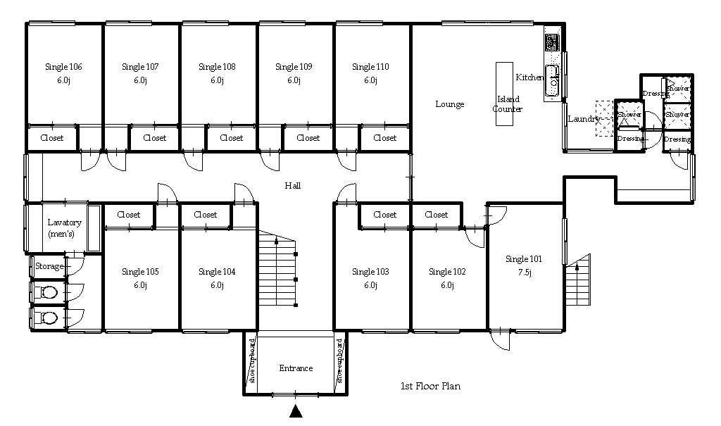 guesthouse sharehouse オークハウス元住吉ANNEX floorplan1
