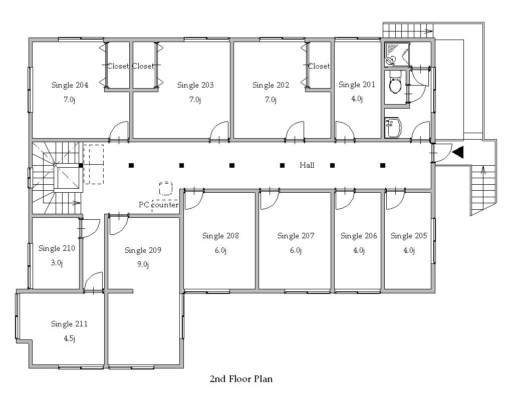 guesthouse sharehouse プレミア多摩川 floorplan2
