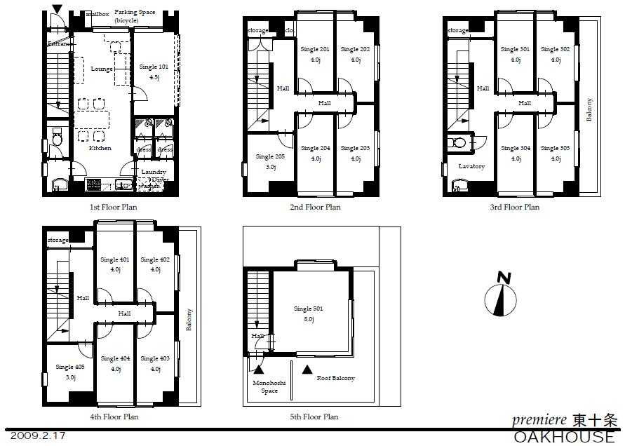 guesthouse sharehouse 프리미어 히가시쥬조 floorplan1