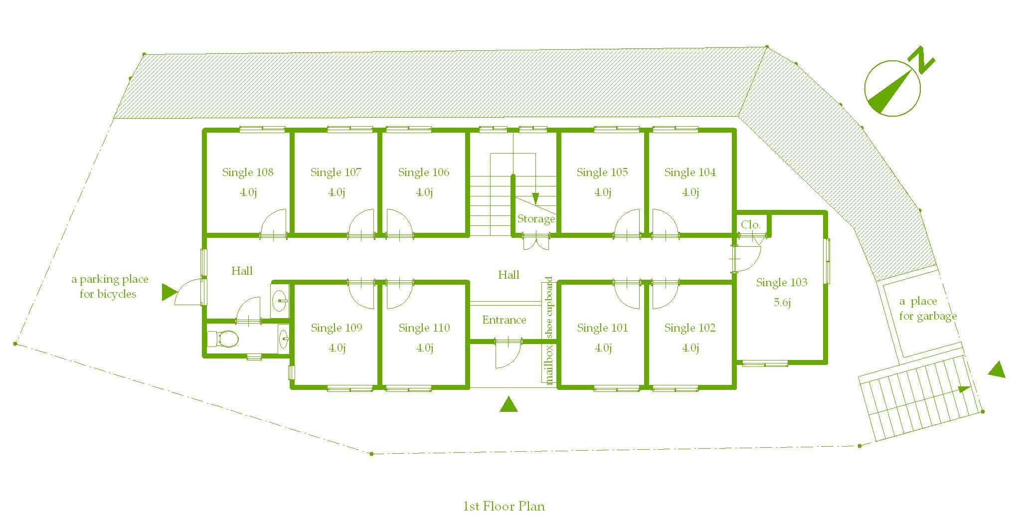 guesthouse sharehouse プレミア新百合ヶ丘 floorplan1