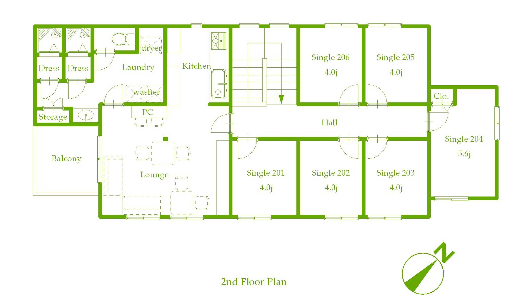 guesthouse sharehouse プレミア新百合ヶ丘 floorplan2