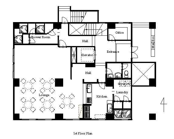 guesthouse sharehouse PREMIERE KIBA floorplan1