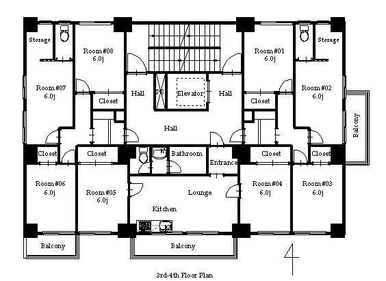 guesthouse sharehouse PREMIERE KIBA floorplan2