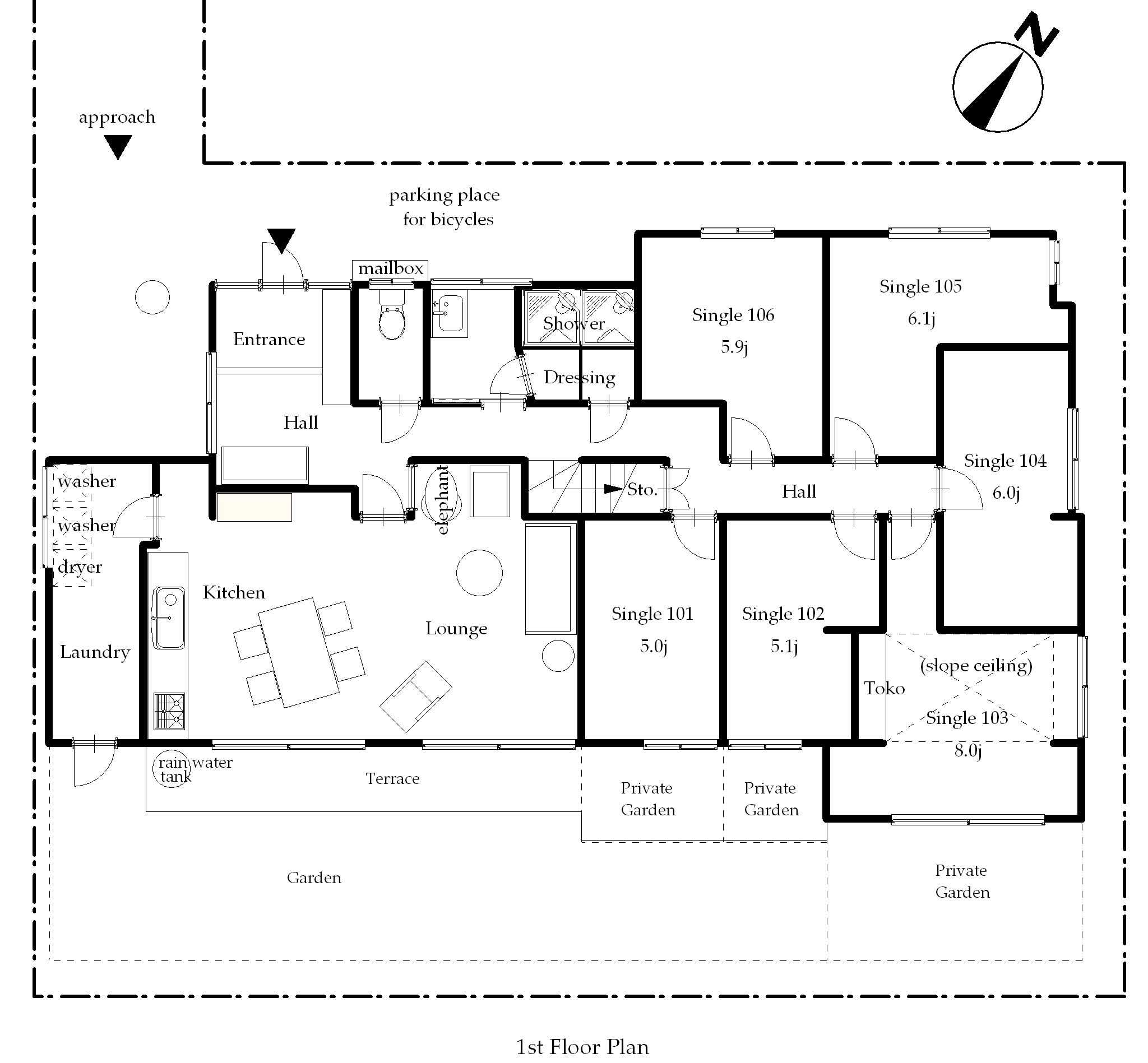 guesthouse sharehouse プレミア久が原 BALI STYLE floorplan1